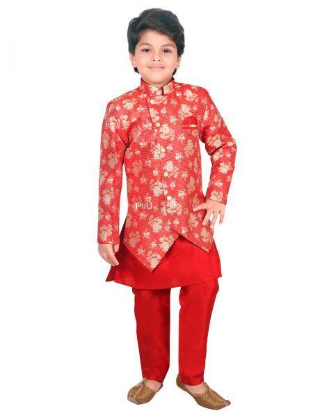 Seagreen Ethnic sherwani with dhoti pants