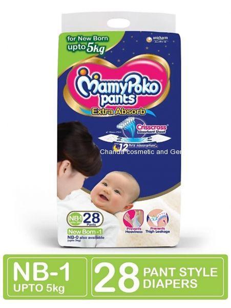 Mamypoko pants extra absorb diaper NB28