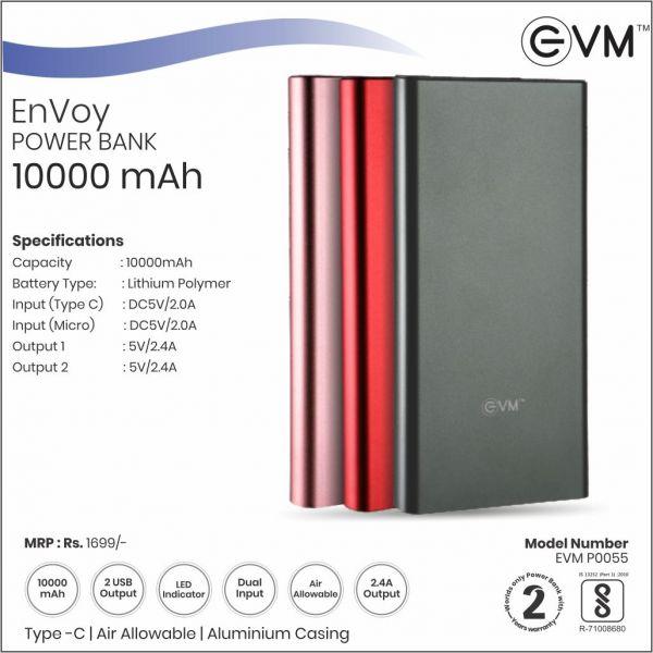 EVM EnVoy 10000mAh Power Bank PNK