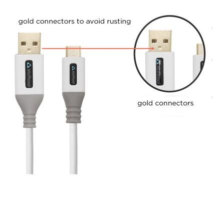 Stuffcool Alto Nylon Braided Micro USB Cable With Charging