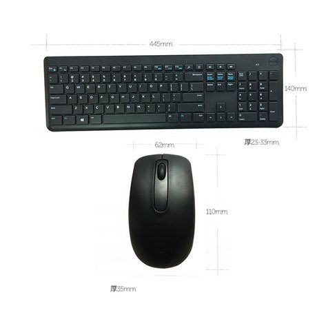 Dell Wireless Keyboard & Mouse Combo KM117