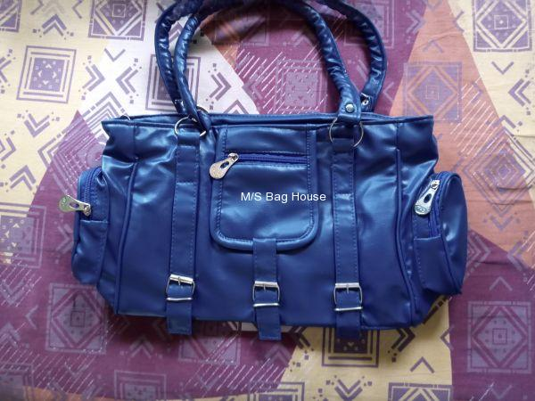 Solid Artificial leather ladies bag