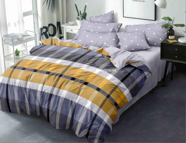 Smooth cotton Queen size Dabule bed Bedsheet with pillow cover