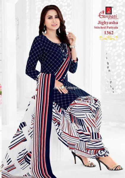 Jighyasha Dresses  Length in Meters Kurta 2-50 Mt Salwar 2-00 Dupatta 2-25  Approx Dark Blue