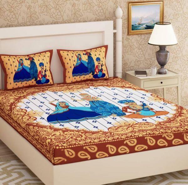 Bedsheet Jaipuri cotton