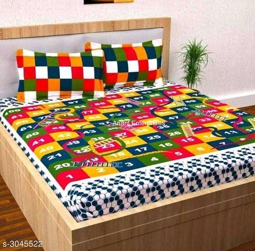 Jaipuri printed QUEEN SIZE WITH PILLOW COVER IN MULTI COLOR